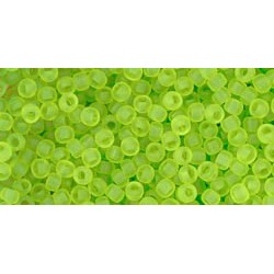 Mărgele nisip Toho 11/0 0004F transparent-frosted lime green
