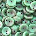 Mărgele Piggy 4x8mm T63120 opaque turquoise green Picasso