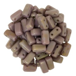 Mărgele Bricks 3x6mm. CT43020 ashen grey-copper Picasso
