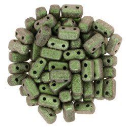 Mărgele Bricks 3x6mm. 94103 polychrome-olive mauve