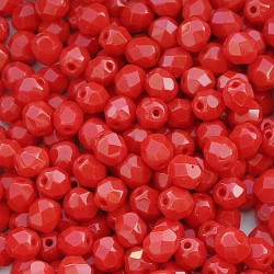 Mărgele Fire Polish rotunde 6mm 93200 opaque red