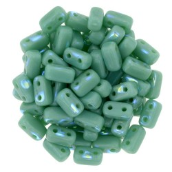 Mărgele presate Bricks 3x6mm. PK53130 peacock-green turquoise