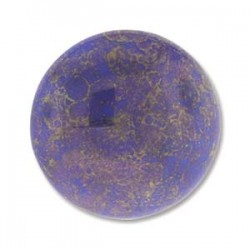 Mărgele presate Cabochon 24mm. 15435 lapis luminous
