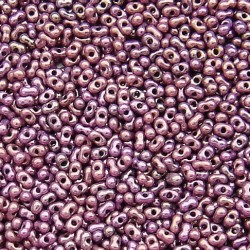 Matsuno peanut 2x4mm. 4009 antique gold purple luster