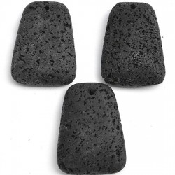Lava rock black 40x30mm plat trapezoidal