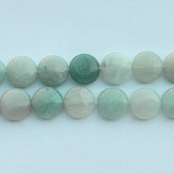 Amazonite, 12mm plat rotund