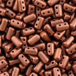 Mărgele presate Rulla 3x5mm. K01750 matte metallic dark copper