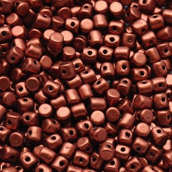 Mărgele Minos par Puca 2.5x3mm. K0175 matte metallic dark copper