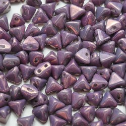 Mărgele Super Kheops par Puca 6mm. 03000-15726 opaque amethyst/gold ceramic