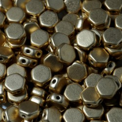 Mărgele Honeycomb 6mm. 00030-01710 crystal bronze pale gold