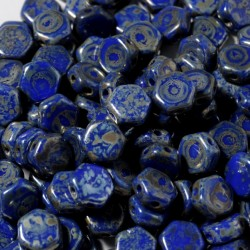 Mărgele Honeycomb 6mm. 33050-43400 royal blue picasso