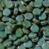 Mărgele Honeycomb 6mm. 63030-43400 turquoise picasso
