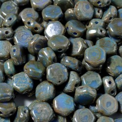 Mărgele Honeycomb 6mm. 99995-43400 hodge podge blue picasso