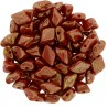 Mărgele GemDuo 8x5mm. LP93200 topaz/pink luster opaque red